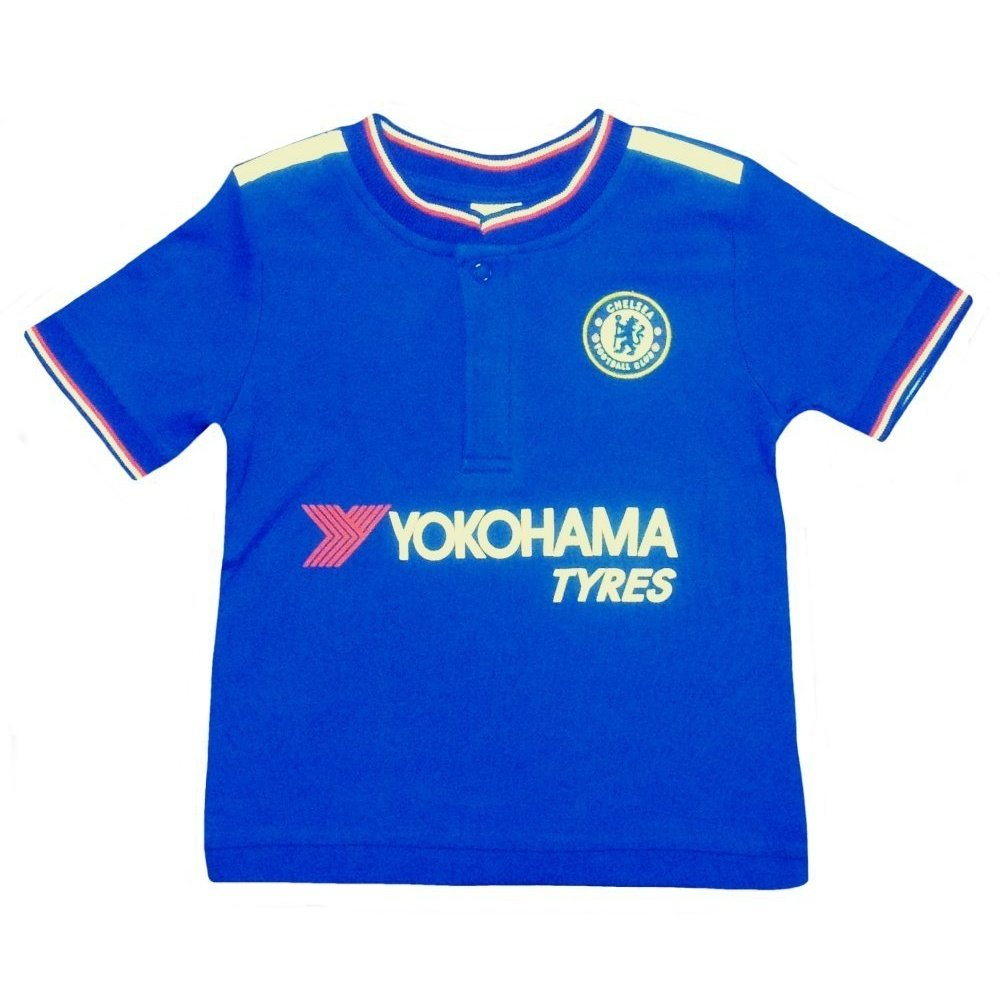 6d47ad7b2 Chelsea FC Baby Football Kit Shirt Strip (18 23 Months)  Amazon.co.uk   Clothing