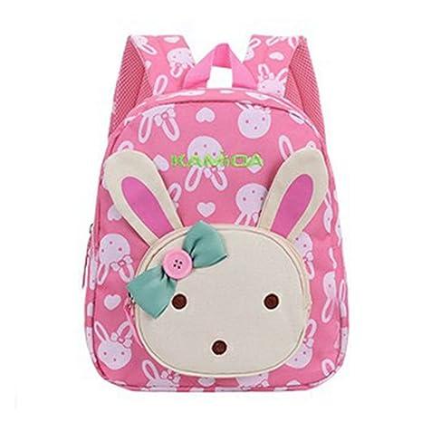 71ad9c443d Naerde libro zaino coniglio animali bambini bambino ragazze scuola borsa  rosa