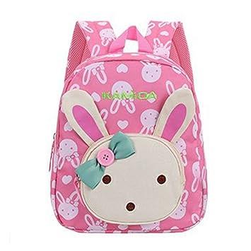 Naerde libro mochila conejo animales niños niño niñas Escuela bolso rosa: Amazon.es: Equipaje