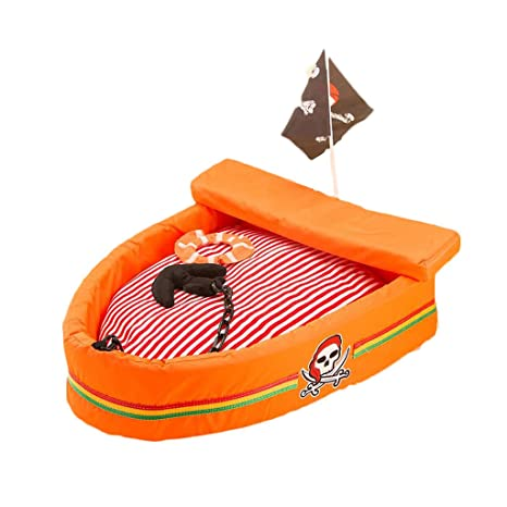 Barco Pirata Cama para Mascotas Perrera de Verano Cama para Perros Nido de algodón VIP Peluche