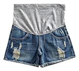 US&R Women's Denim A Line Washed Distressed Secret Fit Belly, Blue 10,Manufacturer(XXL)