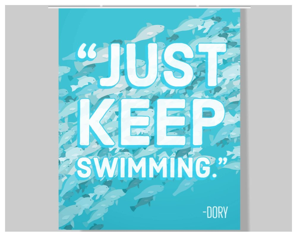 Amazon.com: Dory Quote Poster - 16 x 20 – Motivational ...