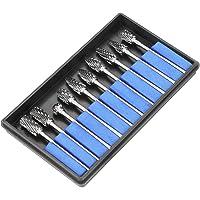 Roterende Burr Set, 10 stks 2.35 * 6mm Tungsten Carbide Rotary Files Metaalbewerking Carving Tool Set voor Dremel Rotary…