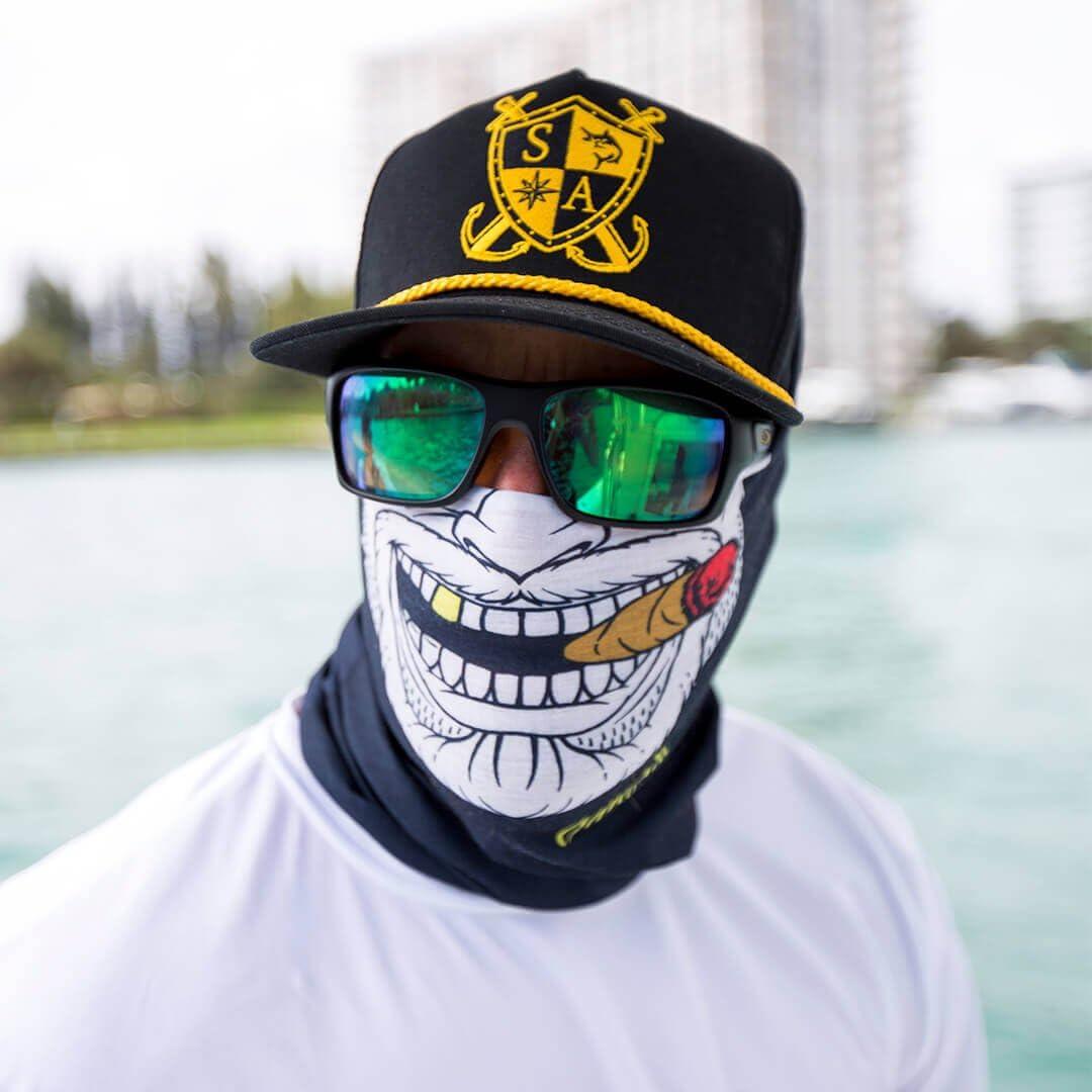 /Face Masque de Sa Company * 40/ Designs Disponible en Chiffon//Chiffon//Flexible//Multifonction//Bandana en qualit/é * /& SPF 40/ SA Fishing Face Shields