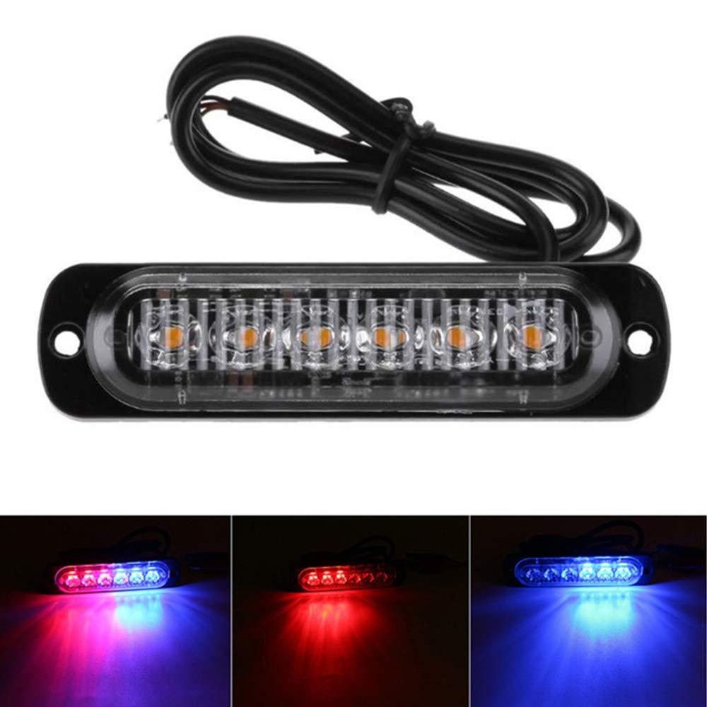 4 luces estrobosc/ópicas laterales para coche 6 luces LED /ámbar intermitente de emergencia luz de advertencia de peligro DC12 24 V luz de distancia cami/ón