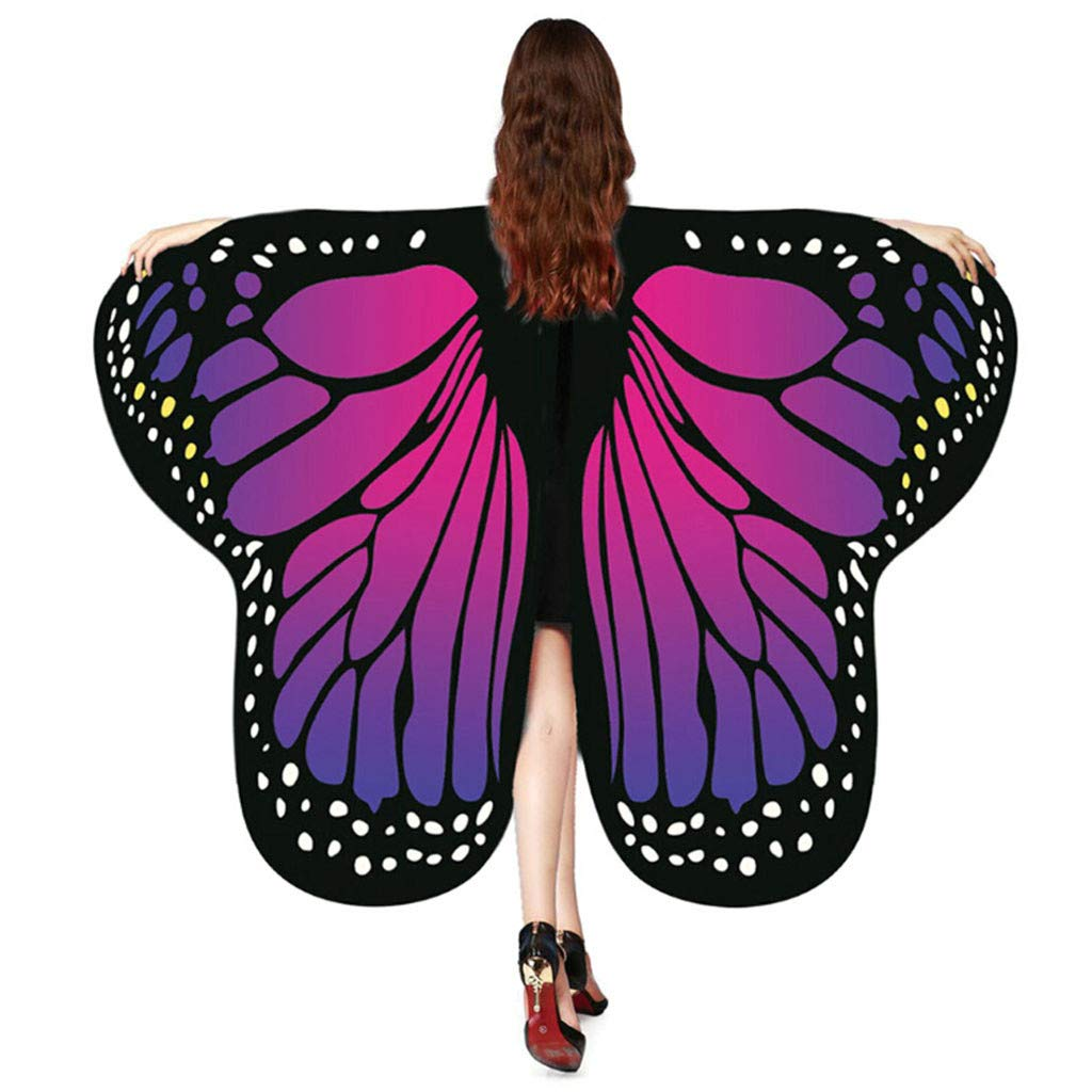 Women Fashion Wings Shawl Scarves Ladies Nymph Pixie Poncho Costume Accessory