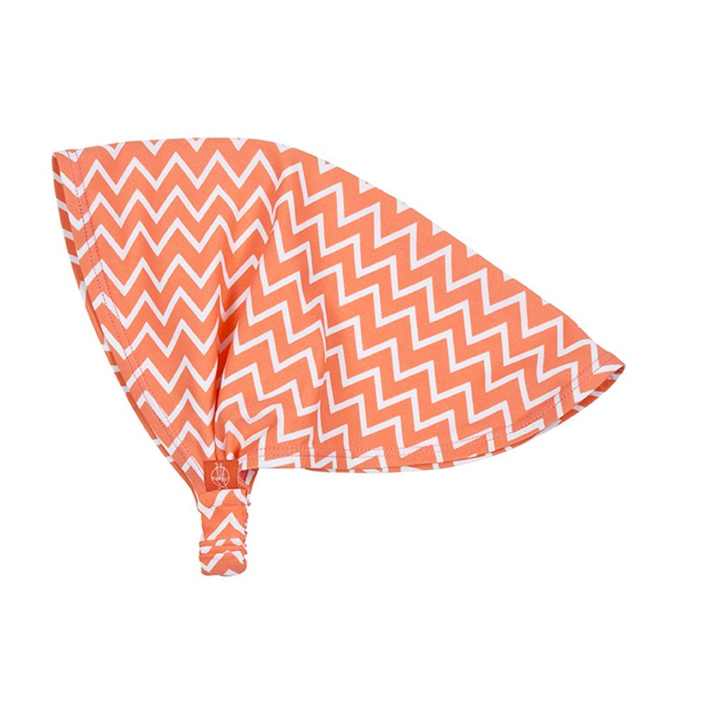 L/ässig Splash und Fun Sun Protection Bandana girls zigzag peach