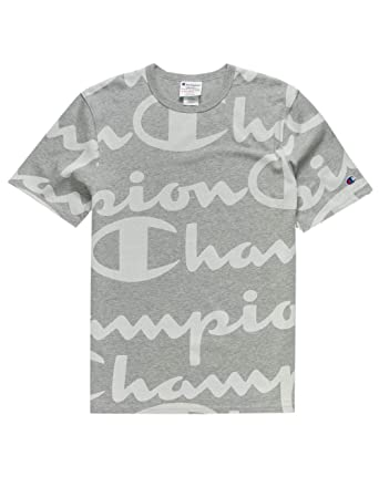 219ac2312f5e Amazon.com  Champion LIFE Men s Heritage Tee-All Over Script  Clothing