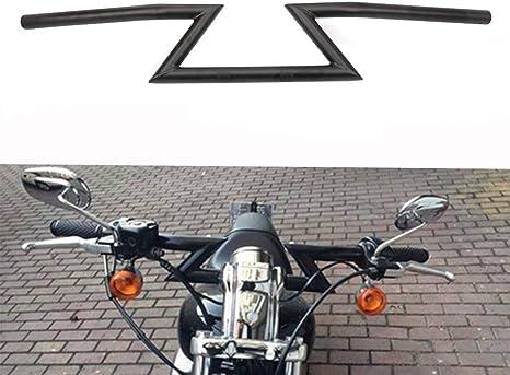 7 8 22 Mm Lenker Z Lenker Universal Für Harley Sportster Cruiser Xl 883 1200 Custom Chopper Softail Dyna Street Bob Schwarz Auto