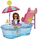 "Barbie DWJ47 ""Club Chelsea Pool and Water Slide"" Doll"