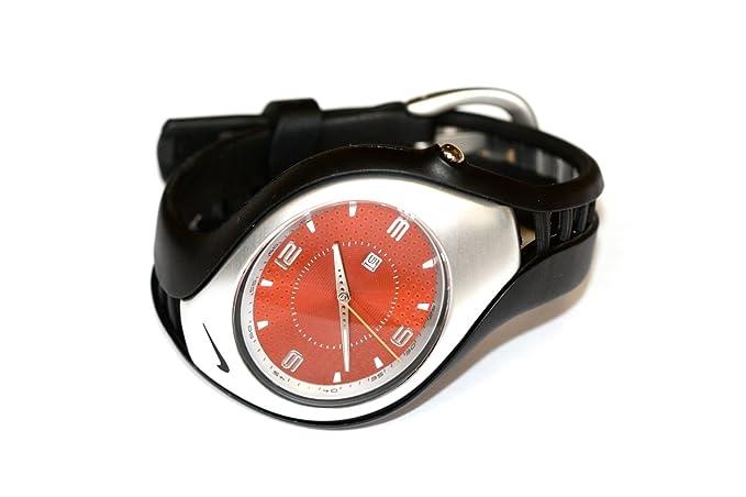 para Hombre Nike Triax Swift 3H Reloj Deportivo Negro Naranja wr0093: Amazon.es: Relojes