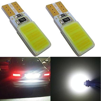 WLJH 2x T10 bombilla LED blanca MAZORCA 5W CANBUS error libre W5W 168 194 lectura de