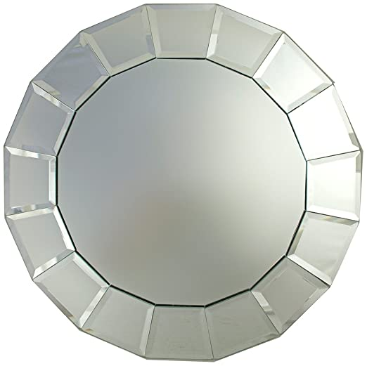 Christmas Tablescape Decor - Gorgeous Tiled Mirror Rim Mirror Charger Plate