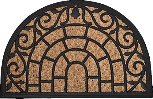 EVIDECO 1401904 Sheltered Mat Door Rug, 16 W x 24 L x 1/4 H, - Rug All Weather Braided