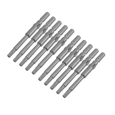 10 piezas T10 gris cierre magnético 2,5 mm punta Allen juego ...