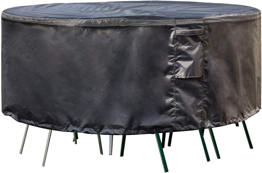 PrimeShield Waterproof Large Patio Furniture Set Cover, Fit for Round Patio Furniture Table and Chair Set, Dia.96 x 23 inch