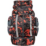 """Indian Riders Hiking Lightweight 50L Backpack Rucksack Bag - Camo Printed Bag 22"""" - (Dimensions (LxBxH):- 14x8x22 inches) IRRB-018"""