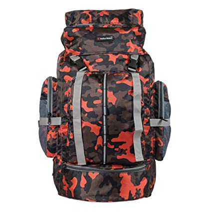 Indian Riders Hiking Lightweight 50L Backpack Rucksack Bag - Camo Printed  Bag 22