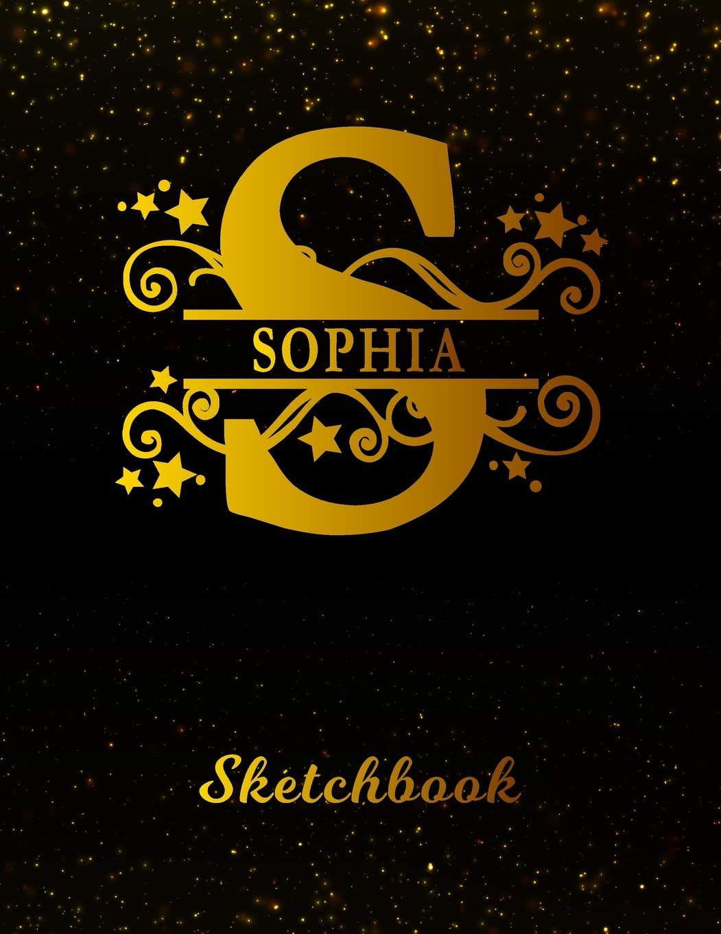 Sophia Sketchbook Letter S Personalized First Name Personal Drawing