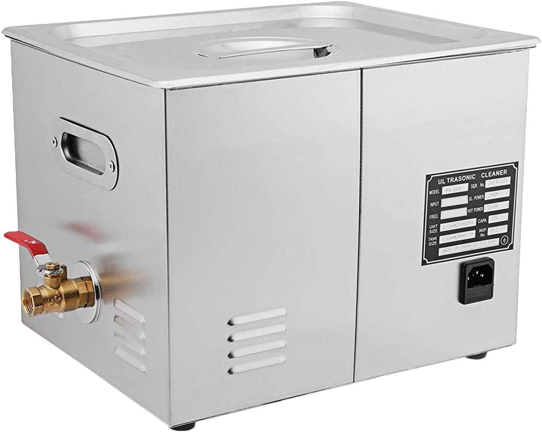 JPS-60A Ultrasuoni Macchina per la Pulizia ad Ultrasuoni in Acciaio Inossidabile Timer di Riscaldamento Digitale Pulizia di Gioielli per Uso Domestico Personale Commerciale 15L