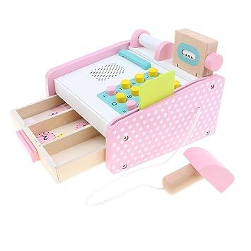 3894c2946d634b Perfk ピンク 子ども ごっこ遊び 店屋さん キャッシュレジスター シミュレーション レジ模型セット ままごと遊び