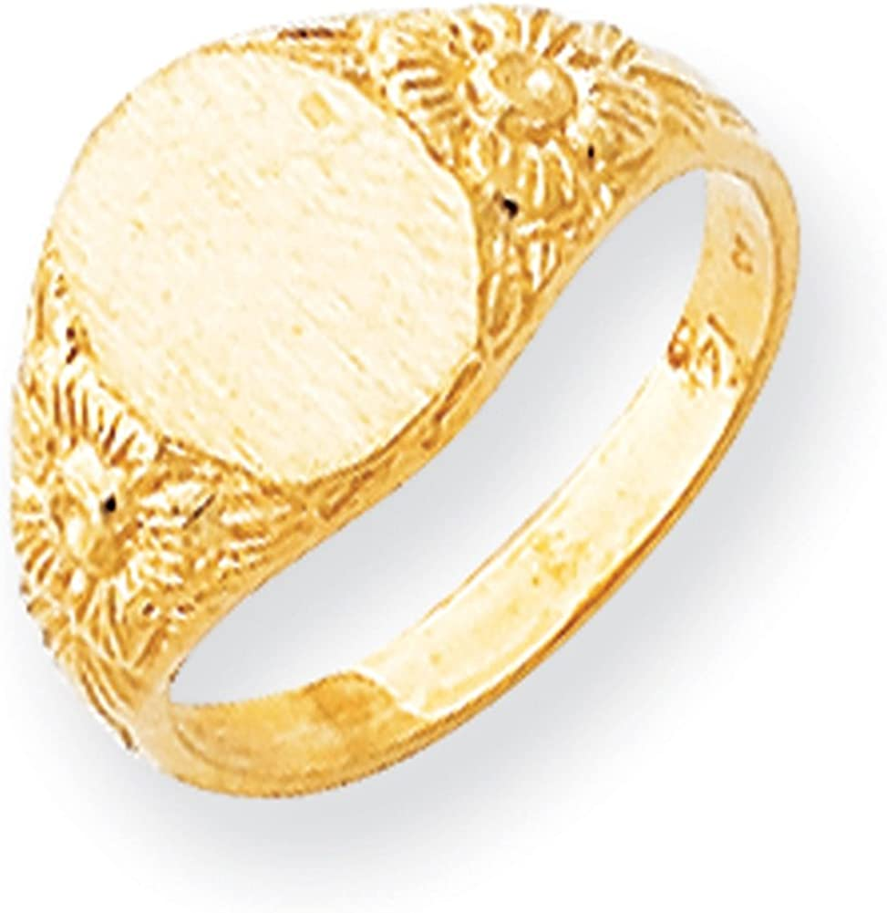 Lex /& Lu 14k Yellow Gold Signet Ring LAL97439