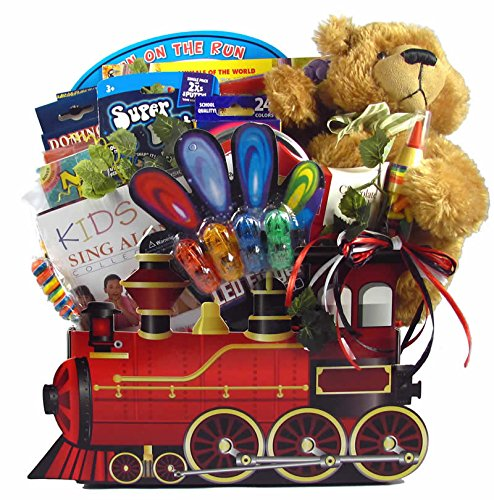 All Aboard! Train Themed Snack and Activity Gift Basket for Boys