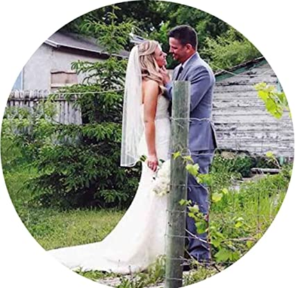 Velo de novia con peine y velo de novia de tul suave para novia y damas de honor blanco Simsly