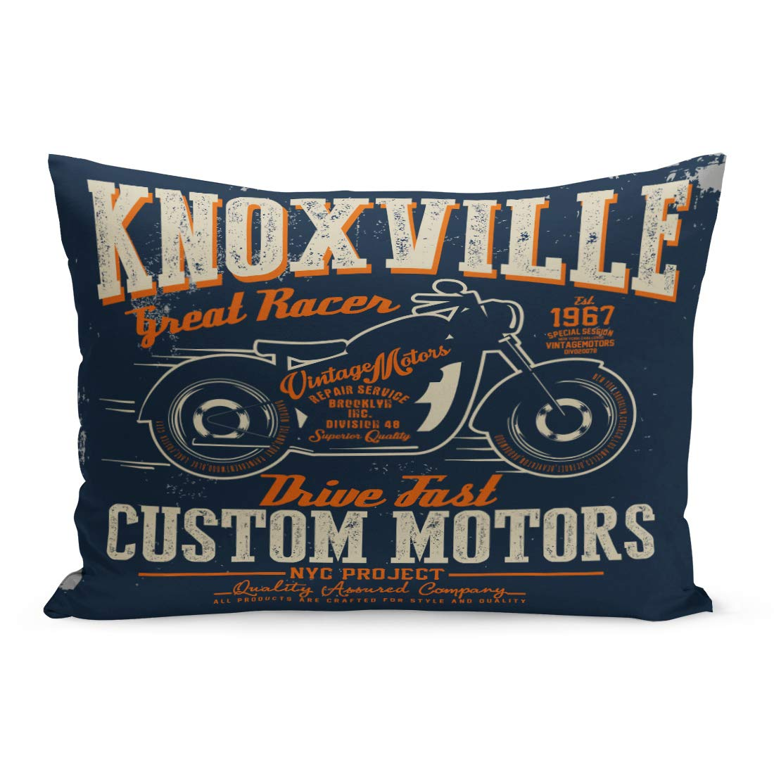 Amazon.com: Semtomn Throw Pillow Covers Motorcycle Graphics ...