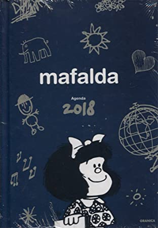 Granica Mafalda - Agenda encuadernada 2018, color azul