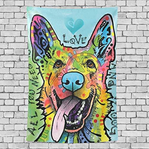 ATMAYW Ethnic German-Shepherd-Dog-Dean-Russo Tapestry, Wall Hanging for Bedroom Living Room Dorm