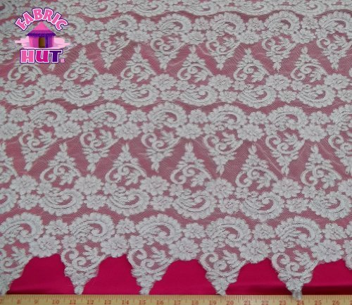 ndlelight & Silver Alencon Lace Remembrance Fabric By The Yard (Alencon Lace Yard)