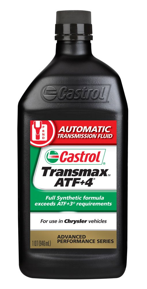 Castrol 6810 Transmax ATF +4, 1 Quart, Pack of 6