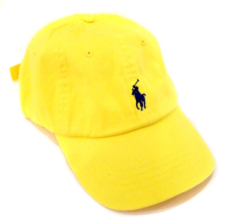 f832c61f56a Polo Ralph Lauren Pony Logo Hat Yellow Navy at Amazon Men s Clothing store