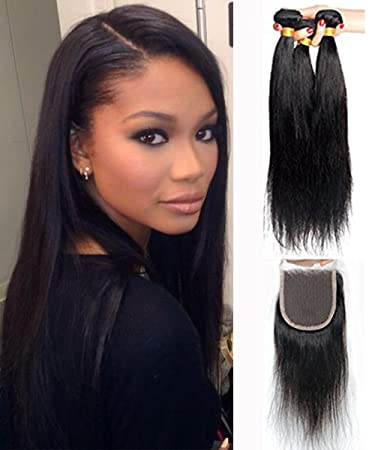 Amazon mike mary brazilian straight hair weaves with lace mike mary brazilian straight hair weaves with lace closure free part virgin remy cheap human pmusecretfo Images