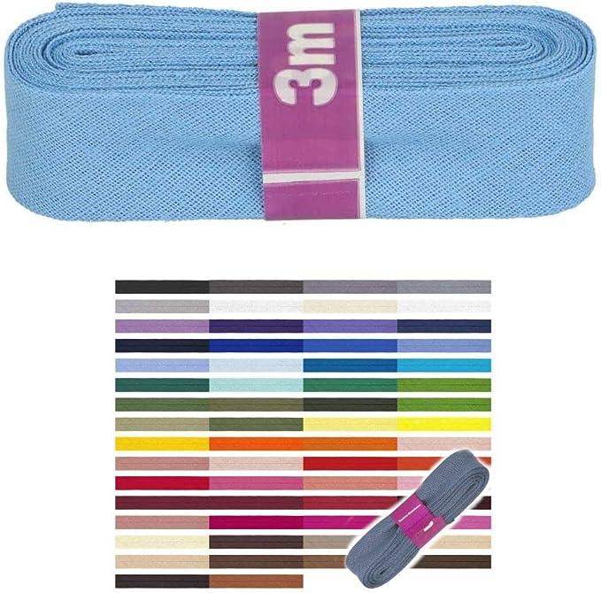 Farbe: Wei/ß Unbekannter Hersteller Schr/ägband aus Baumwolle 10m Rolle 20mm breit