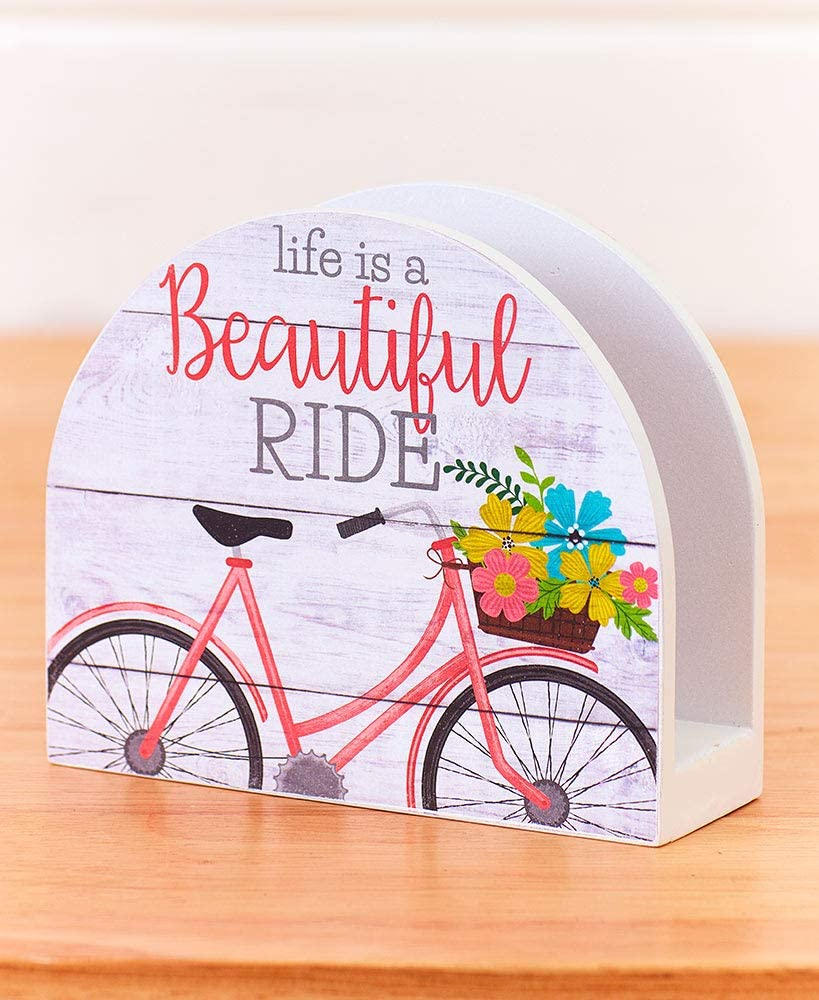 Vintage Bicycle Kitchen Decor Collection Life Is a Beautiful Ride Living the Good Life (Napkin Holder)