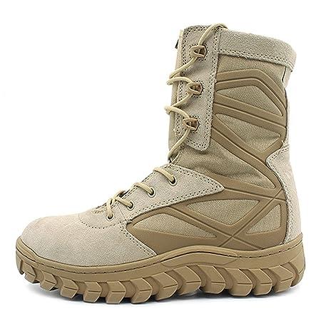 MERRYHE Esercito Militare Campeggio Escursionismo Desert Boots Stivali Tattici Lace Up Sport All'aria Aperta Polizia Scarpe Stivali Da Combattimento Di Sicurezza Per Gli…