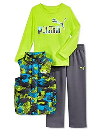 8c8d110002e9 PUMA Kids Baby Toddler Boy s Three Piece Set Hoodie or Vest