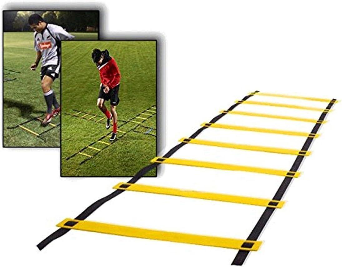 camtoa 9 constante de escalera de coordinación Entrenamiento Velocidad de escalera escalera Agility Ladder en el fútbol, velocidad, fitness pies de entrenamiento de fútbol, incluye bolsa, selección de colores, amarillo: Amazon.es: Deportes