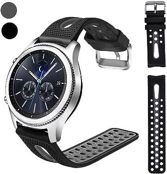 Nigaee - Reloj de Pulsera para Samsung Gear S3 Frontier, Samsung Galaxy Watch de 46 mm, Correa