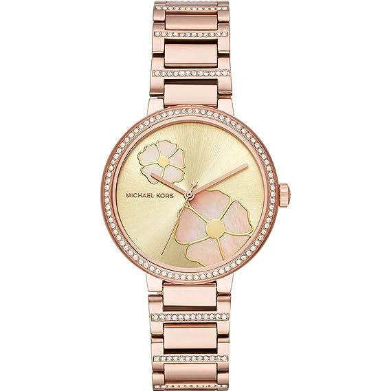 Michael Kors Reloj Analogico para Mujer de Cuarzo con Correa en Acero Inoxidable MK3836: Amazon.es: Relojes