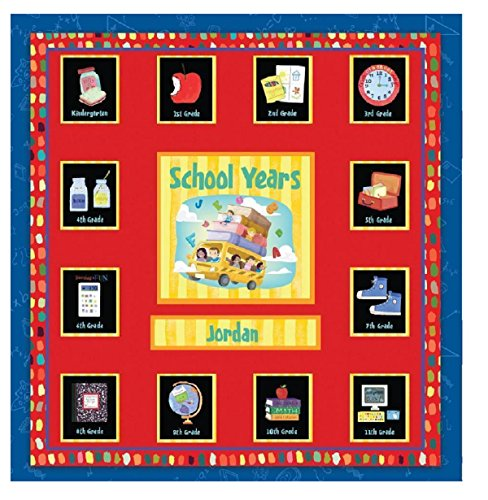 School Record Book - School Years Personalized 24 Pocketful of Memories Book Album:Off to School Dena Designs