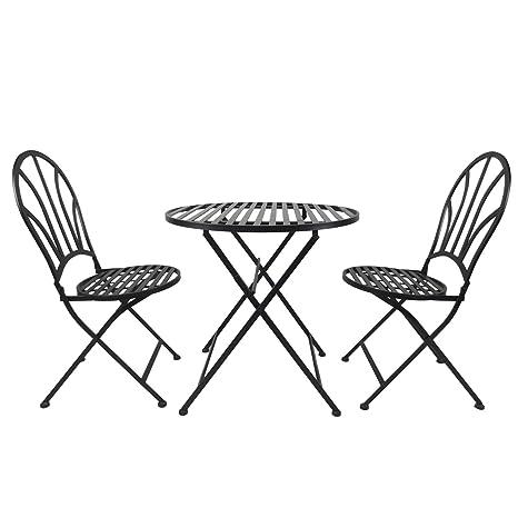 Outsunny Garden - Juego de 2 sillas Plegables de Metal para ...