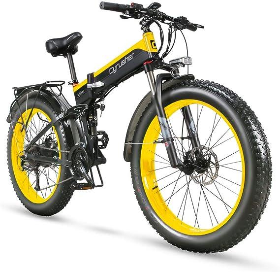 Extrbici Cruiser Bicicleta Eléctrica Plegable XF690 1000w 48v 12,8A Electrónica Grasa Neumática E Bicicleta Completa Suspensión 27 Velocidades ...