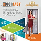 DOOREASY Magnetic Screen Door, Heavy Magnets, Loop Fully Sewn Top-to-Bottom Seal Insect Screen Door Curtain,Mosquitoes and Biting Bugs Stand No Chance(Fits Doors Up to 37'x82')
