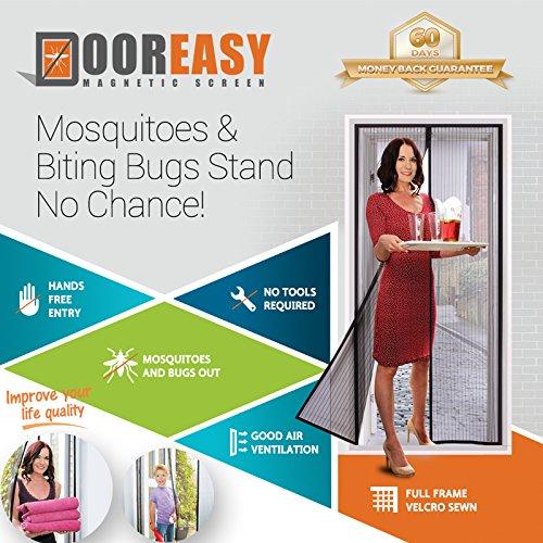 Dooreasy Magnetic Screen Door Super Fine Fly Screen For Doorways/Doors/Patio, Warding Off Mosquitoes and Biting Bugs, Fresh Air In(Fits Doors Up To 34''x82'') by DOOREASY (Image #10)