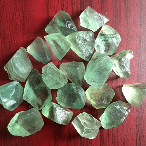 (FHNP367 - Natural Green Fluorite Stone Specimen Nugget -Undrilled Raw Rough Fluorite Chunks Loose Stone Specimen for jewelry making- 3 Pcs)