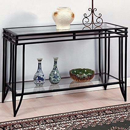 Amazon Com Matrix Sofa Table By Crown Mark Furniture Kitchen Dining