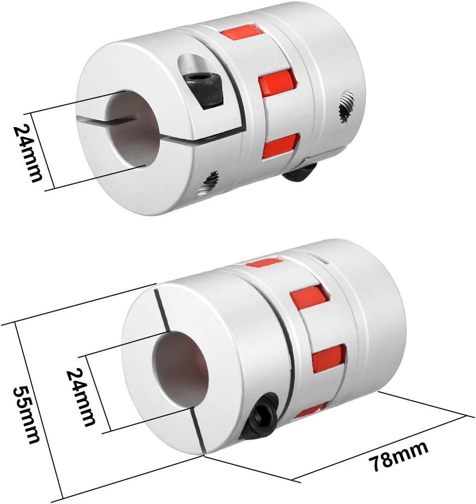 Acoplamiento de eje de 16 mm a 16 mm de calibre L66 x D40 Flexible acoplador Junta para Servo Motor paso a paso